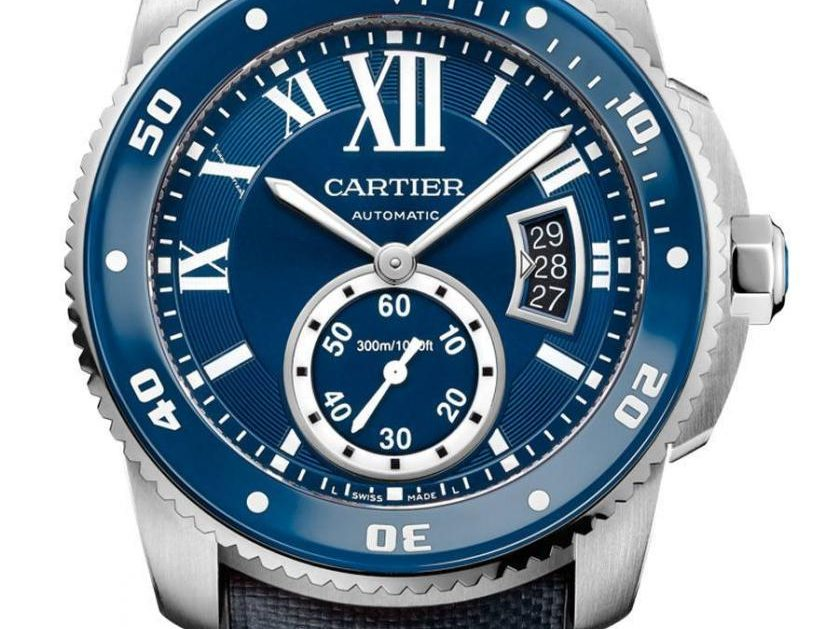 Cartier: Calibre de Cartier Uhren Homepage Replik  Diver Blue in Edelstahl