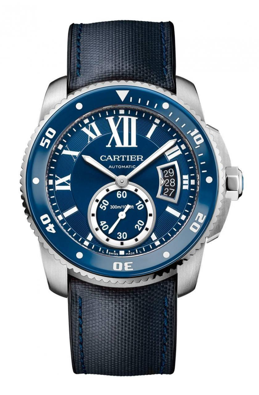 Cartier: Calibre de Cartier Uhren Homepage Replik  Diver Blue in Edelstahl