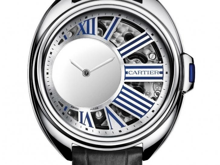 Cartier: Clé de Cartier Uhren Santos 100 Replik  Mysterious Hour in Palladium