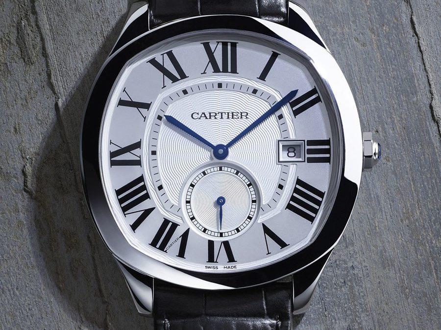 Cartier: Drive de Cartier Uhren Panthere Gold Replik  in Edelstahl