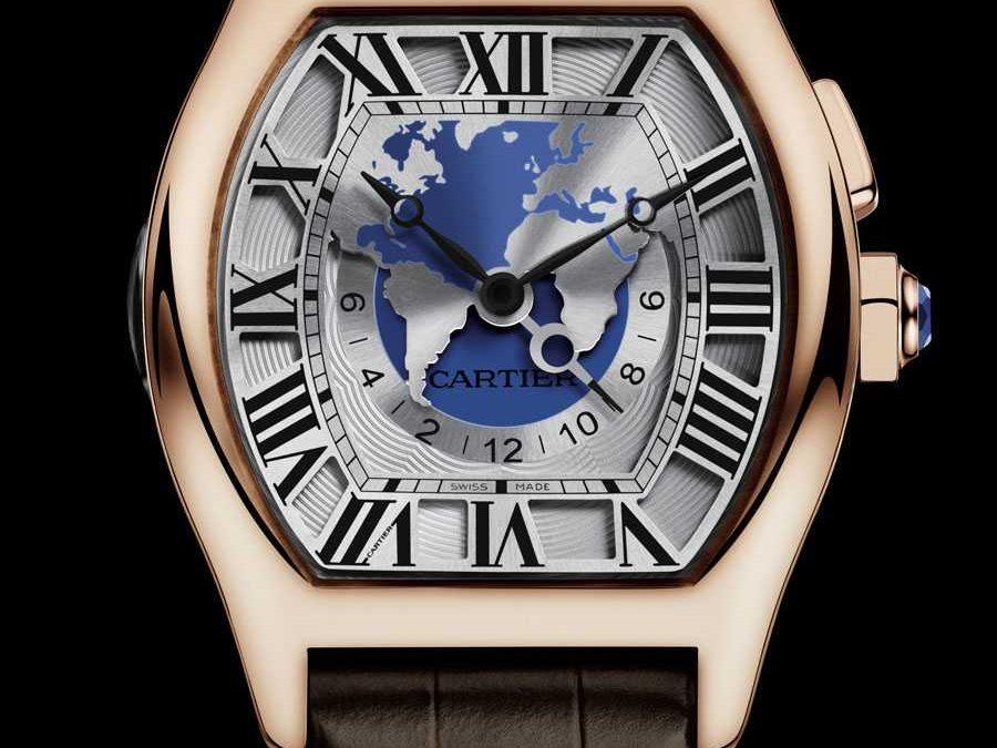 Komplexe Reiseuhr: die Tortue Weltzeit von Cartier Uhren Freiburg Replik