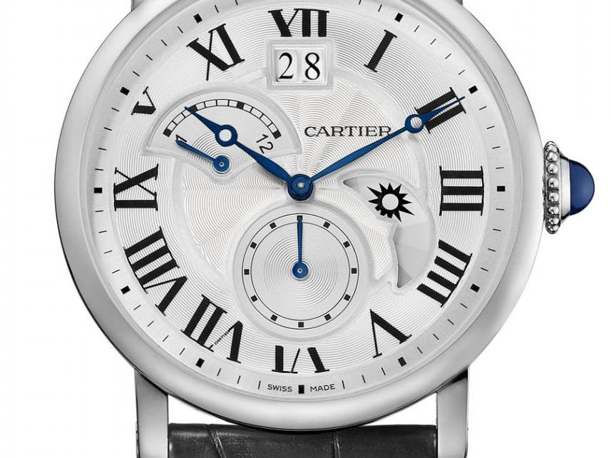 Cartier: Rotonde de Cartier Uhren Damen Preise Replik  Second Time-Zone in Edelstahl