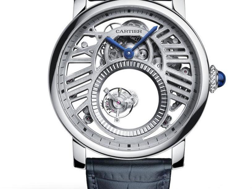 Das Rotonde Skeleton Mysterious Double Tourbillon von Cartier wird jetzt in Platin angeboten.