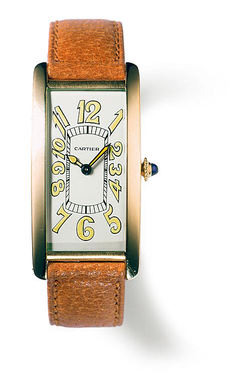 Die Pasha De Cartier Uhren Replik  Tank Cintrée von 1929 mit gewölbtem Gehäuse und arabischen Ziffern