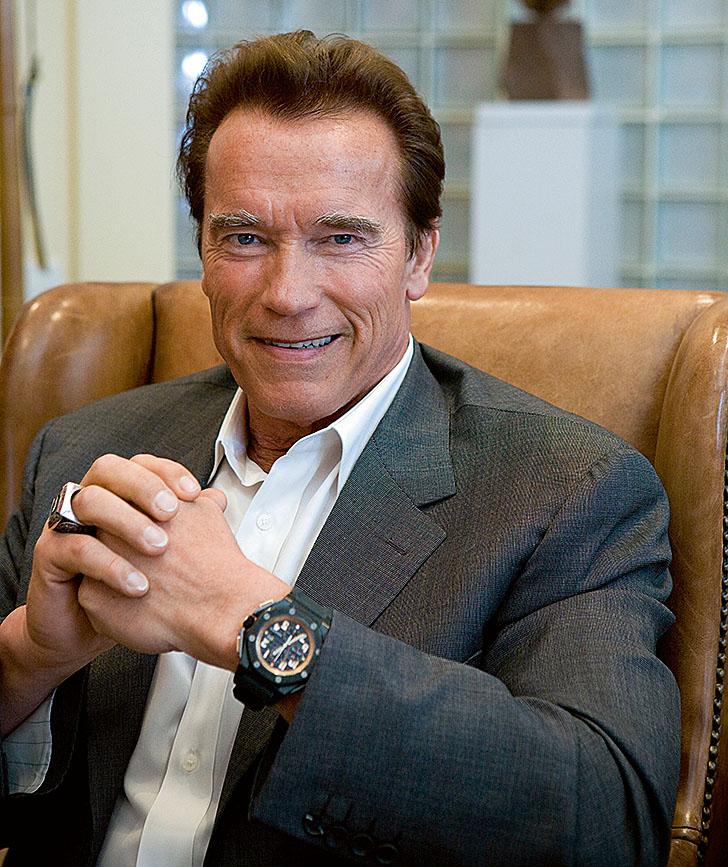 Arnold Schwarzenegger mit einer Royal Oak