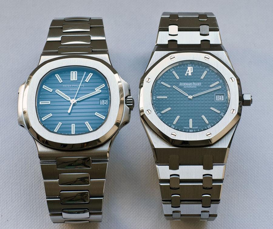 Luxussportuhren aus Edelstahl: Die Patek Philippe Nautilus 5711/1A vs. die Audemars Piguet Automatic Uhr Replik Royal Oak 15202ST