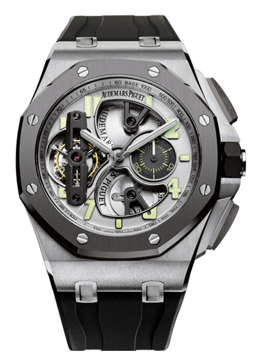 Audemars Piguet: 2014er-Version des Royal Oak Offshore Tourbillon Chronographen Referenz 26387IO.OO.D002CA.01