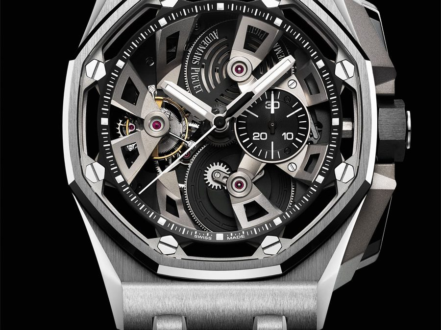 Audemars Piguet: Royal Oak Offshore Tourbillon Chronograph, Referenz 26421ST.OO.A002CA.01 in Edelstahl