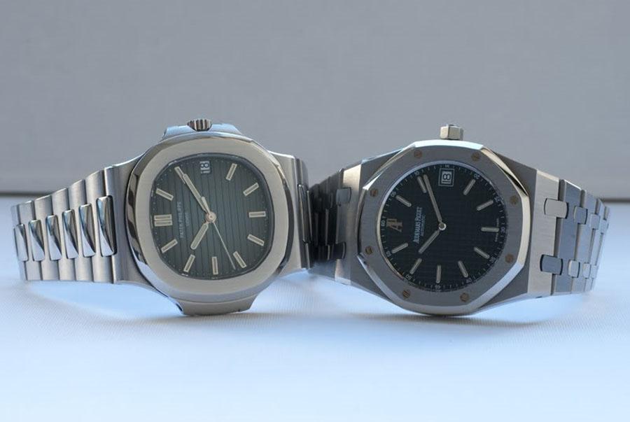 Die Zifferblätter der Patek Philippe Nautilus und der Audemars Piguet Antike Uhren Replik Royal Oak