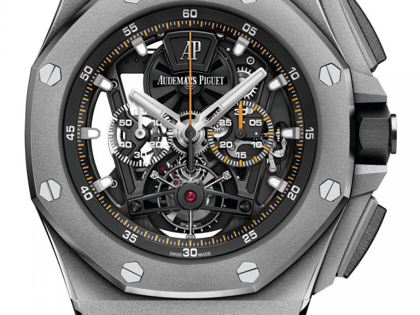 Audemars Piguet: Royal Oak Offshore Tourbillon Chronograph in der Titanversion